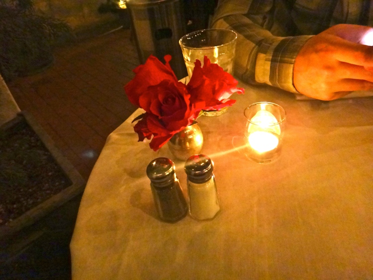 White Linens and Red Roses at Jayne's