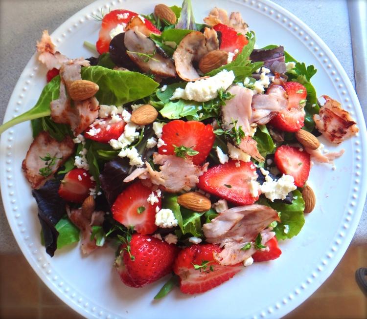 strawberry, salad