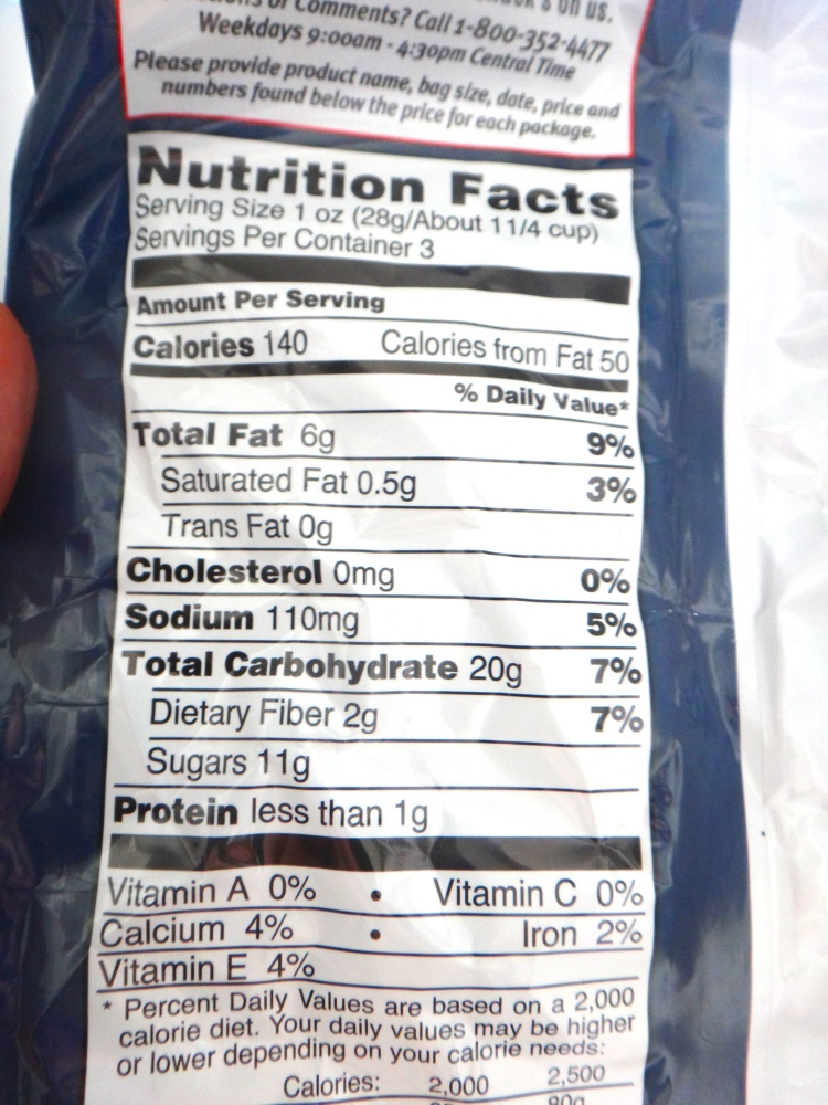 Cracker Jack Kettle Corn Nutritional Information