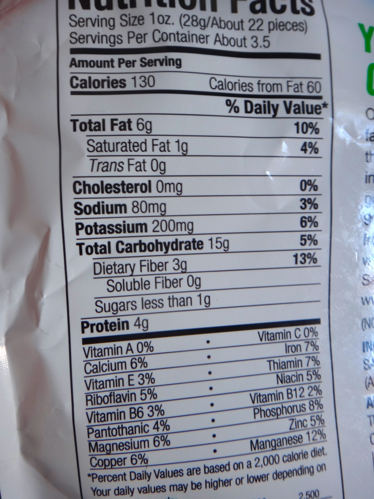 Snap Pea Crisps Nutritional Information