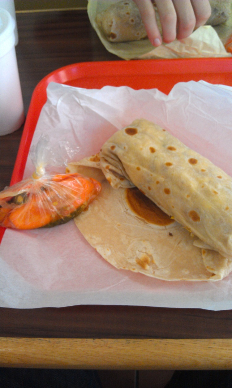 Breakfast Burrito and Carrots