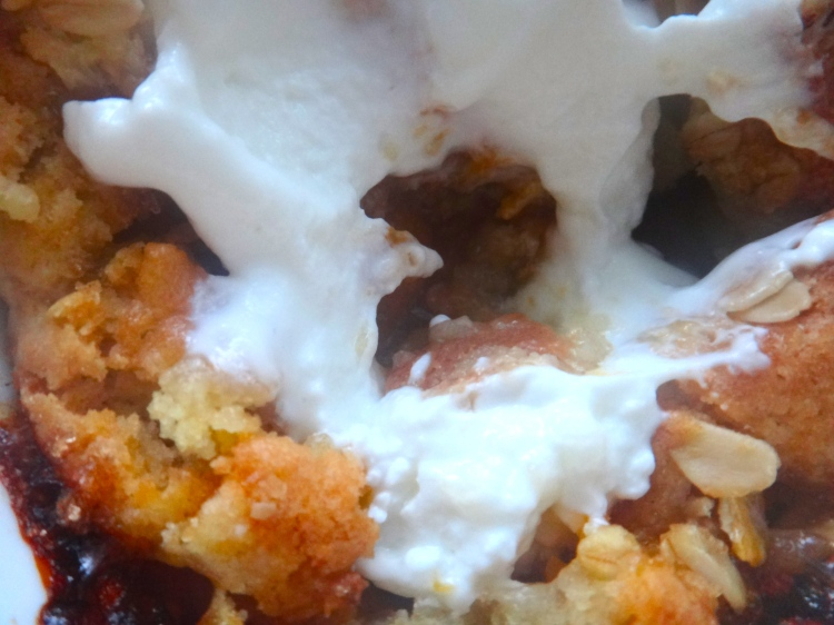 Apricot & Honey Cobbler with a Dollop of Greek Yogurt