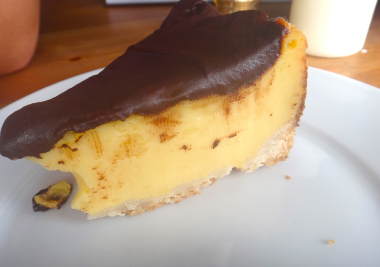 Flan Tart with Chocolate Ganache