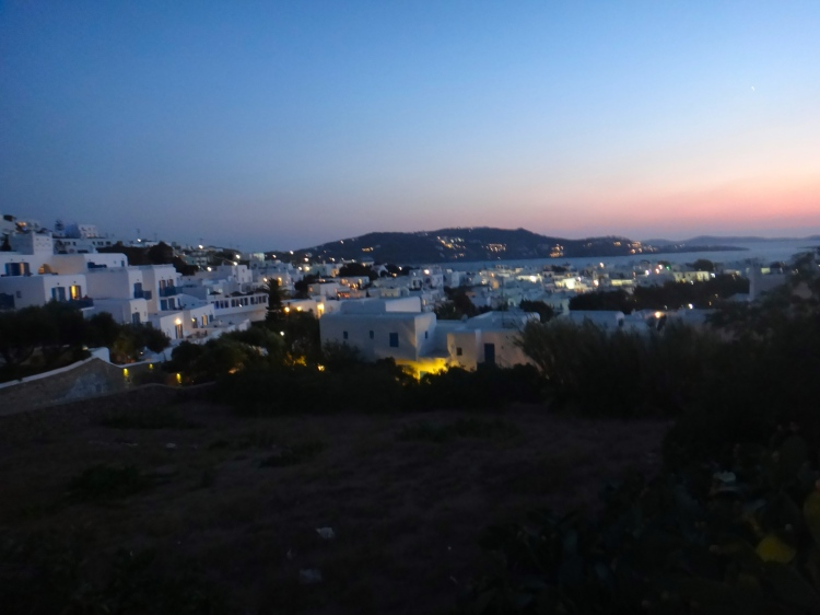 Sunset over Mykonos