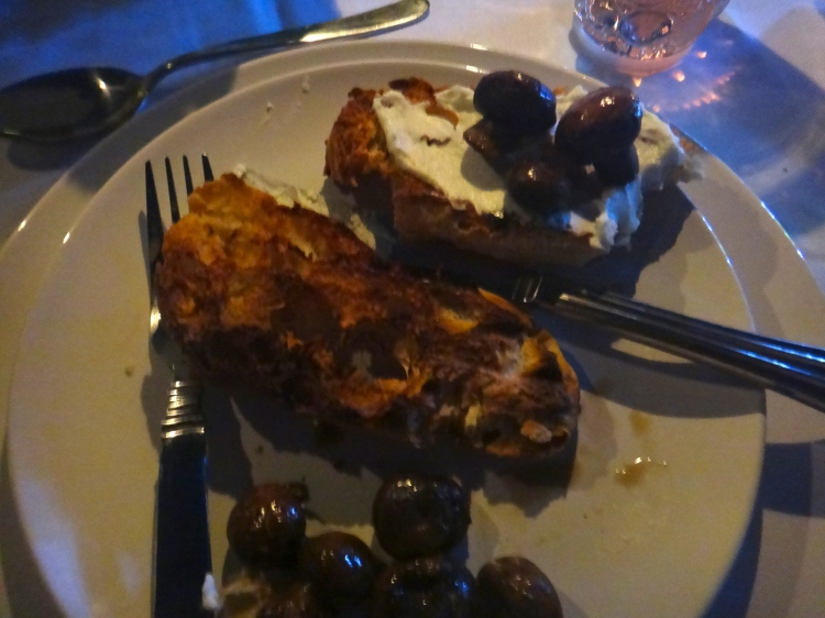 Crostini with Truffled Ricotta and Mushrooms
