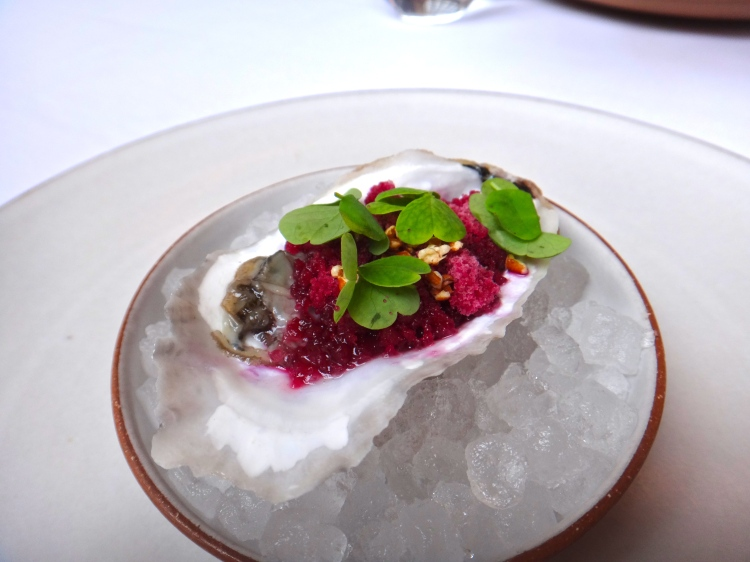 Oyster with Champagne Vinegar Granita